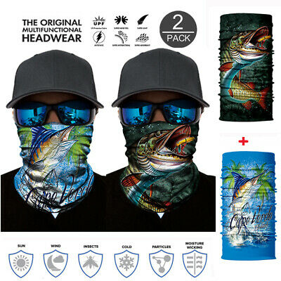 Biker Face Mask Neck Tube Scarf Cycling Snood Hiking Balaclava Headwear Fishing