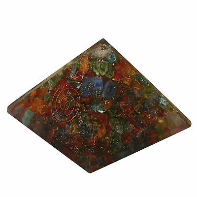 Extra Large Multi-Stone Orgonite (70-75mm) Orgone Gemstone Pyramid X-large