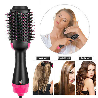 2 In 1 Multifunction One Step Hair Dryer and Volumizer Brush Straightening Comb