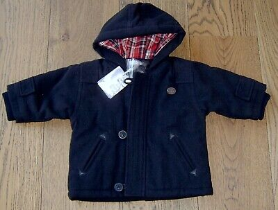 Absorba Baby Boys Black Hooded Padded Jacket Sz 6 Months New With Tags