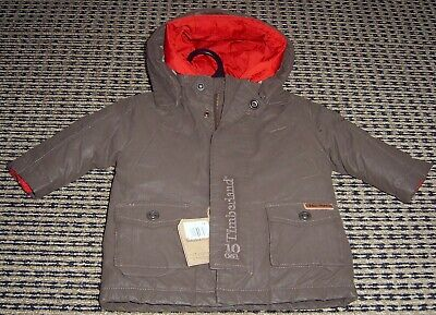 Timberland Baby Boys Hooded Padded Jacket(2 In 1) Sz  6 Months New With Tags