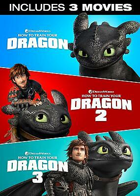 How to Train Your Dragon Hidden World INCLUDES 3 MOVIES NEW DVD Kit Harington