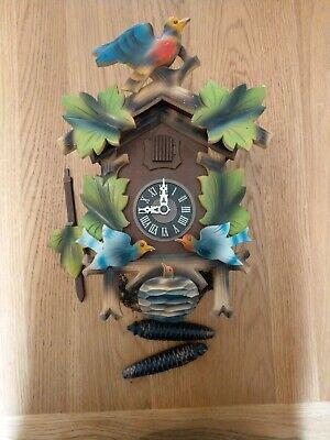 Fully Working Hanging Black Forest Nature Scene Cuckoo Clock