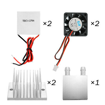 2 Thermoelectric Peltier Module+2 Cooling Fans+2 TEC1-12706 Chilling Plate TE955