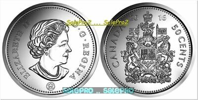 CANADA 2016 CANADIAN QUEEN JUBILEE HALF DOLLAR BU 50 CENT from ROLL COIN UNC