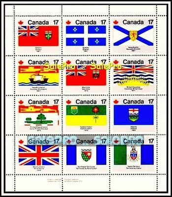 12x CANADA 1979 CANADIAN PROVINCIAL FLAGS FV FACE $2.04 MNH STAMP SHEET SET LOT
