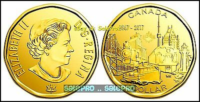 Canada 1867 2017 Loonie Connecting A Nation From Bank Roll $1 Dollar Coin Unc