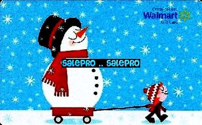 Walmart Christmas Winter Greetings Snowman Happy Ride Rare Collectible Gift Card