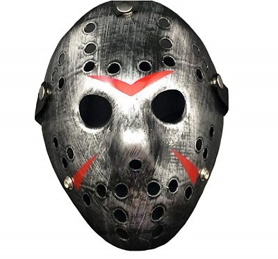 Porous Jason Voorhees Mask, Cosplay Hockey Scary Costume Masks Props for Party