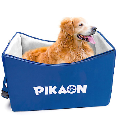 Pikaon Dog Booster Car Seat, Safety Upgraded Pet Lookout Seat, Cold and Hot Use
