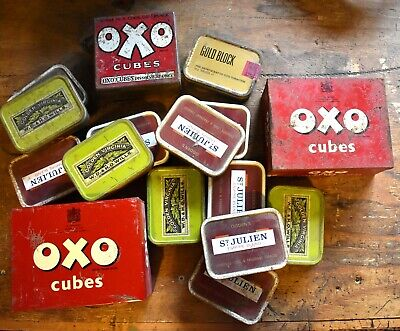Collection of vintage tins - Oxo and tobacco