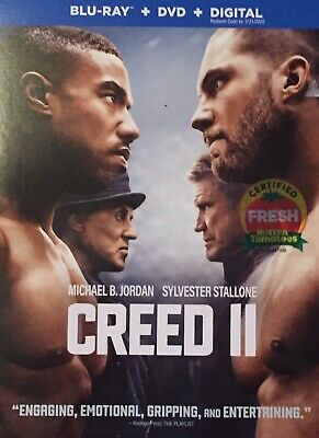 CREED 2 BLU RAY+ DVD + Slip COVER SEALED BRAND NEW RELEASE TODAY! Ready To Ship!
