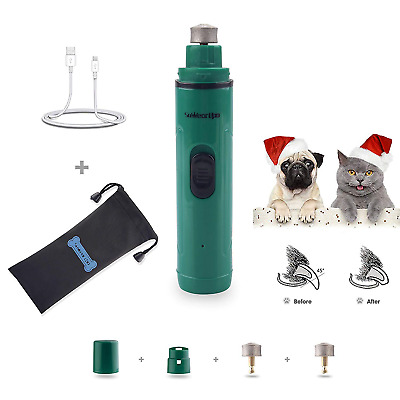 XIAOO 2 Speed Electric Pet Nail Grinder for Dogs Cats with Free Drawstring Hours