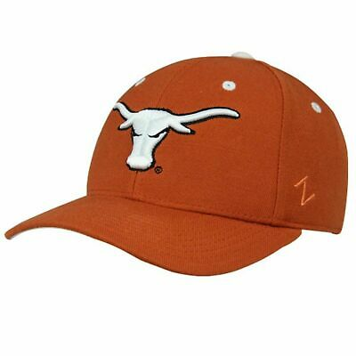 new style 30072 309ae Zephyr Texas Longhorns Hat Mens Fitted Cap Team Color