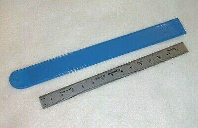 NEW PEC 150 mm Tempered Steel Ruler Metric Grads (.5 mm and mm) w/ Sleeve
