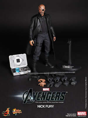 BRAND NEW HOT TOYS MMS 169 THE AVENGERS – NICK FURY FIGURE Avengers US SELLER !