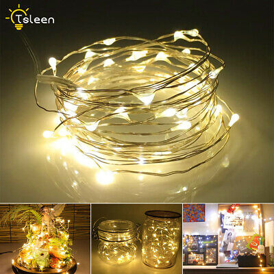 3X1.5V Aa Battery Starry Fairy Lights 20-100 Micro Leds Silver Wire Lamp A27E