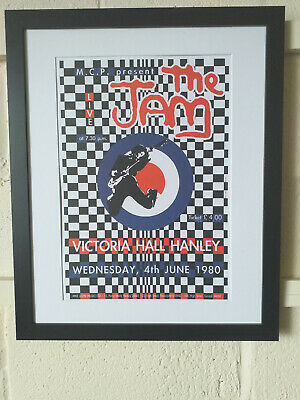 The Jam Hanley 1980 Concert Mounted Framed Display Weller Foxton Mod Punk