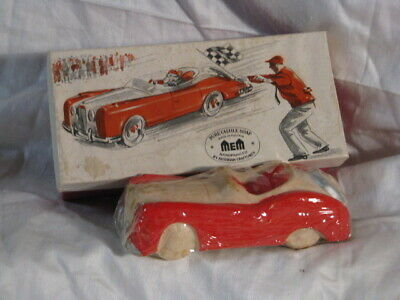 Castile Pure Soap Austria Handpainted Red Sports/Race Car w/ Box UNUSED WRAPPED