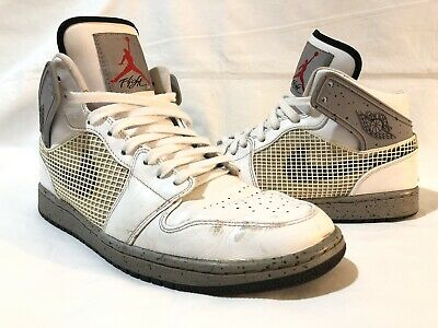 newest bd0b3 4aa4e NIKE AIR JORDAN 1 Men s 10.5 599873-104 RETRO 89 QS WHITE BLACK CEMENT