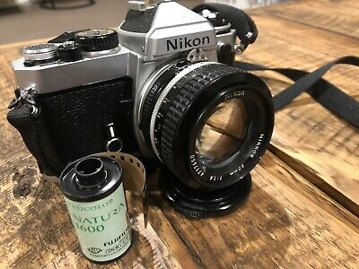 Nikon FE With Nikkor Ai-s 50mm 1.4 Lens Vintage Camera Inc Fuji Natura All Mint