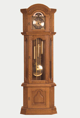 Hermle Mechanism Kinga Lux - Grandfather Clock - Oak - Pendulum Clock - New