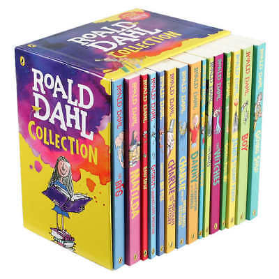 ROALD DAHL Box Set Collection 15 Kids Story Books Matilda The Witches Brand New