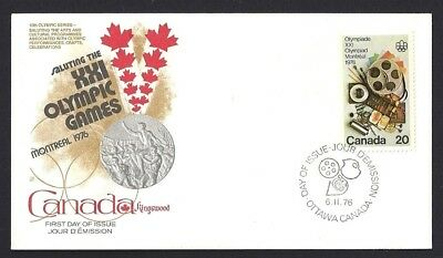 Canada   # 684   Kingswood Olympic Cover    New 1976 Unaddressed