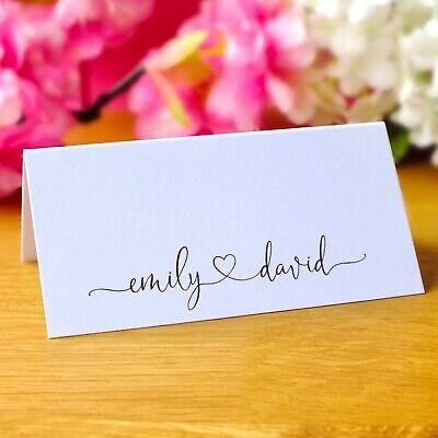 Personalised Wedding Place Cards - Dinner Party Guest Name Cards - Pack of 12