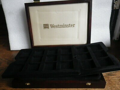 Westminster Mint 24 Coin Case with 2 Trays. Rare Smaller Size Case