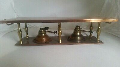 Antique Hinks Arts and Crafts Copper and Brass  Hot Plate with Double Burners