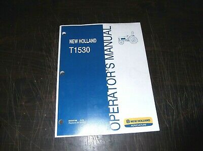 NEW HOLLAND T1530 Tractor Operators Manual - $30.64 | PicClick on
