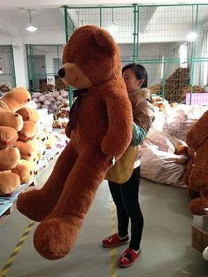 Giant 72 Inches Teddy Bear Plush Soft Toys Brown Stuffed Animals Doll Kids Gifts