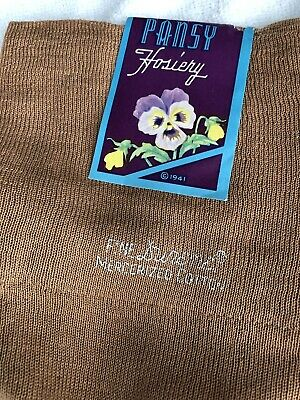 Vintage Cotton Stockings 1941 Pansy Seamed