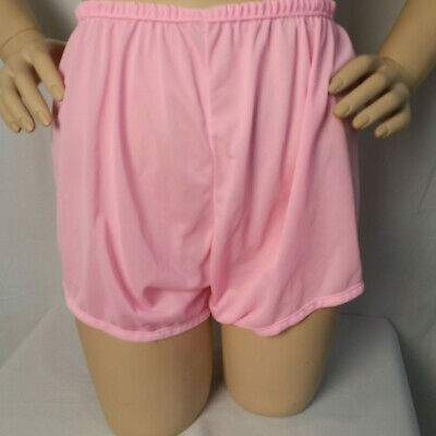 "Vintage 1960s Bubblegum Pink Nylon High Waisted Panties Size Medium up to 34"" W"