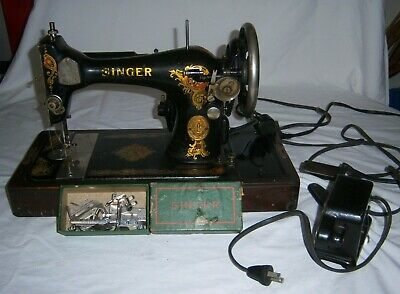 Antique Singer Sewing Machine Catalog BT7 w/ Case & Accessories no key