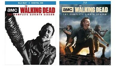 New Sealed The Walking Dead - The Complete Seventh & Eighth Seasons 7 8 Blu-ray