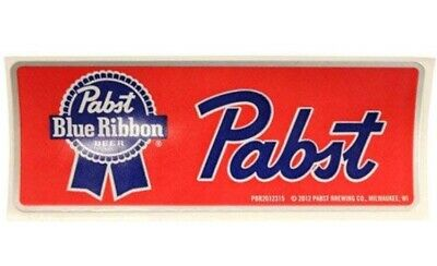Pabst Blue Ribbon Brewery PBR Beer Red Sticker Milwaukee Wisconsin brewing