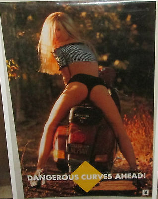 Neriah Davis Vintage Poster Playboy Super Model Hot  Rare 1996 Dangerous