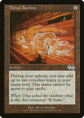 MTG X1: Thran Turbine, Urza's Saga, U, Light Play - FREE US SHIPPING!