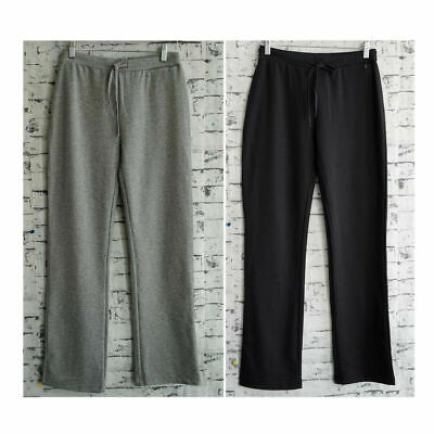 Womens Core French Terry Winter Ladies Track Pants Polyester Cotton Black Grey