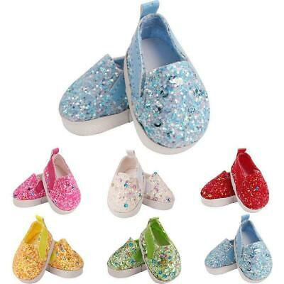 14.5 Inch Doll Shoes Sequin Fashion Small Shoes Doll Jewelry Accessories Fast