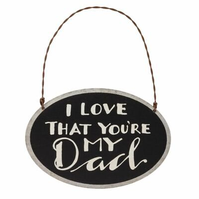 I Love My Dad Ornament Primitives By Kathy Small Wreath Sign Father's Day Gift