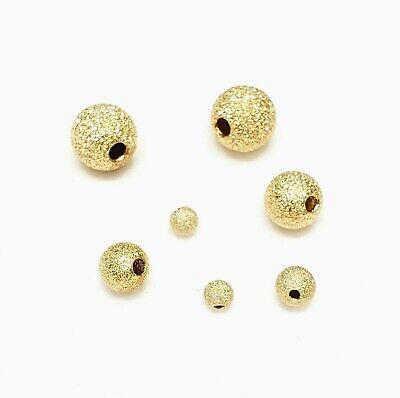 14K Gold Filled Stardust Beads 3mm,4mm,5mm,6mm, 7mm,8mm