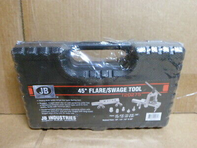 JB Industries T20275 45° Degree Flare Flaring & Swage Tool New Sealed