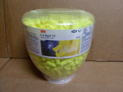 500 Pack 3M E-A-Rsoft FX One Touch Uncorded Ear Plugs 33dB Rated 391-1012