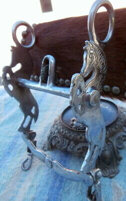 Old Antique Silver Plated Rearing Horse Bit