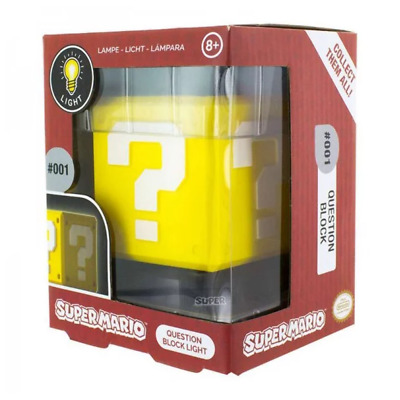 Paladone Super Mario 3D Question Block Light NEW