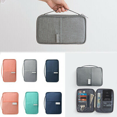 Family Travel Wallet Passport Holder Waterproof Blocking Document Organizer Bag