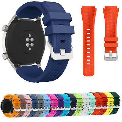 22mm Silicone Strap For Huawei Watch 2 Pro GT Band Sports Rubber Wrist Bracelet